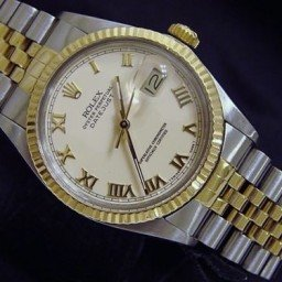 Mens Rolex Two-Tone 18K/SS Datejust Ivory Roman 16013