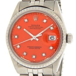 Mens Rolex Stainless Steel Datejust Diamond Orange 1603