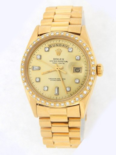 Rolex 18K Yellow Gold Day-Date President 1803 Champagne Diamond-11