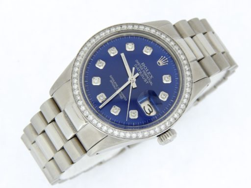 Rolex Stainless Steel Datejust 16014 Blue Diamond-6
