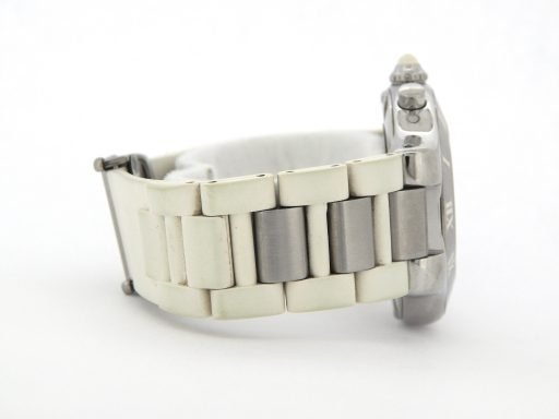 Cartier Stainless Steel Chronoscaph 2424 White -2