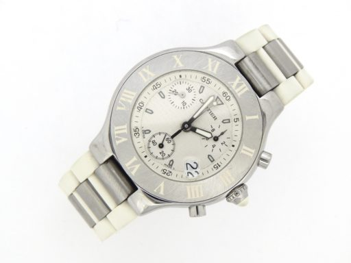 Cartier Stainless Steel Chronoscaph 2424 White -9