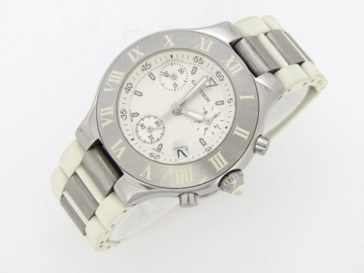 Cartier Stainless Steel Chronoscaph 2424 White -6