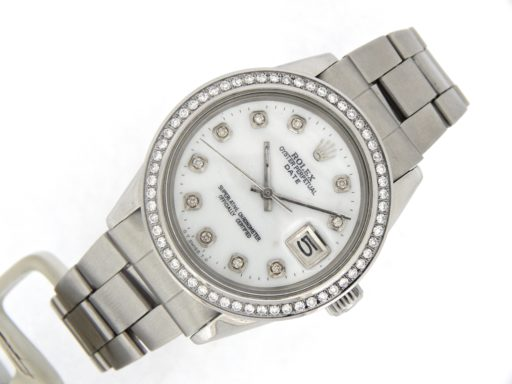 Rolex Stainless Steel Date 1500 White MOP Diamond-7