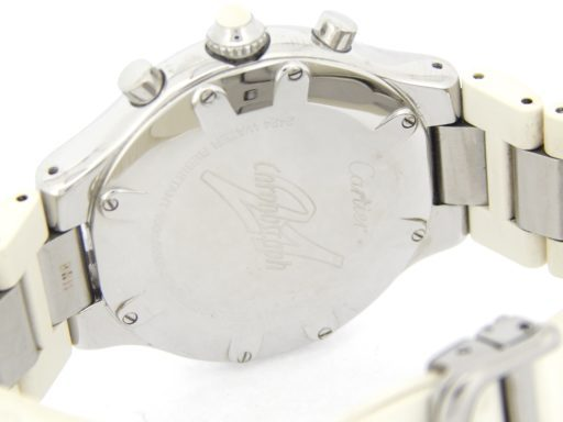 Cartier Stainless Steel Chronoscaph 2424 White -4