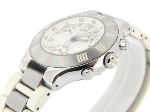 Cartier Stainless Steel Chronoscaph 2424 White -5