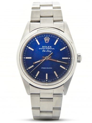 Mens Rolex Stainless Steel Air-King Blue 14000M