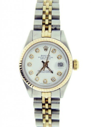 Rolex Two-Tone Datejust 6917 White Diamond-1