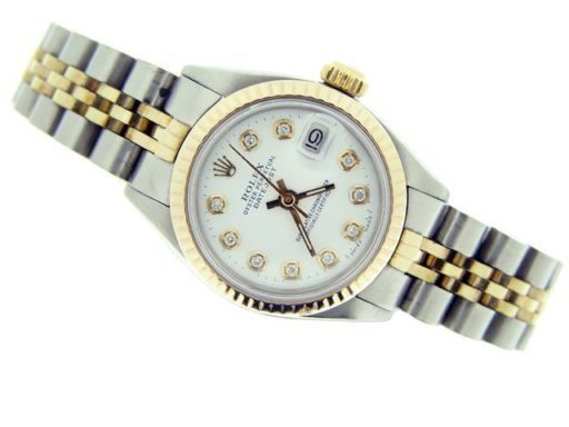 Rolex Two-Tone Datejust 6917 White Diamond-2