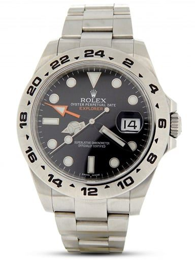 Mens Rolex Stainless Steel Explorer II 42mm Black 216570