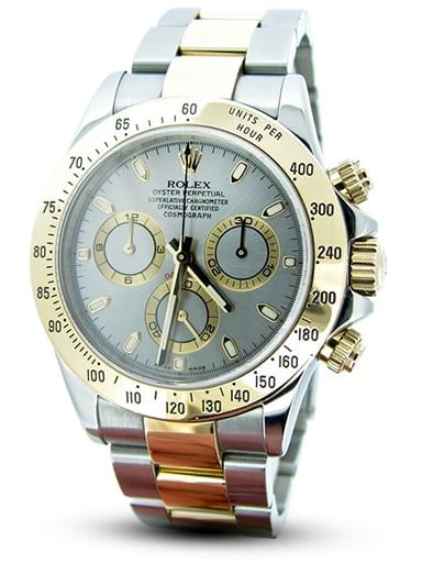 Mens Rolex Two-Tone 18K/SS Daytona Gray, Slate 116523