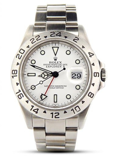 Mens Stainless Steel Explorer II White 16570