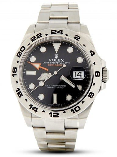 Rolex Explorer II Versions - Mens Stainless Steel Explorer II 42mm Black 216570