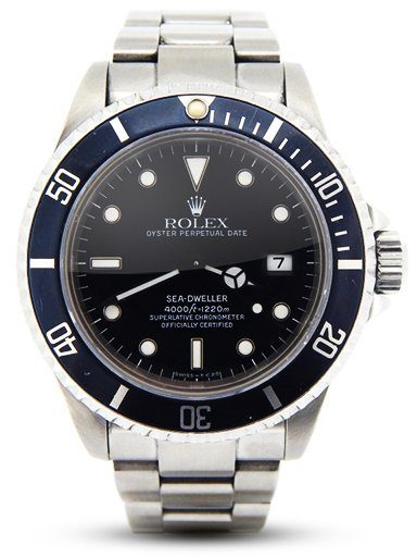 Mens Rolex Stainless Steel Sea Dweller Black 16600
