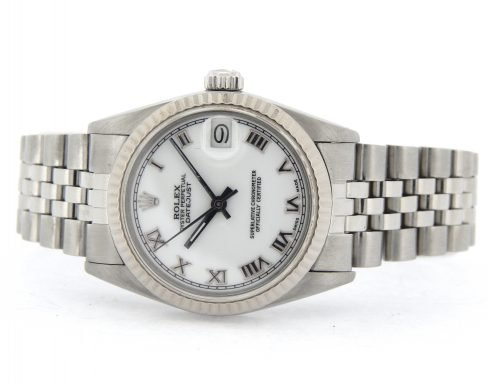 Rolex Stainless Steel Datejust 68274 White Roman-6