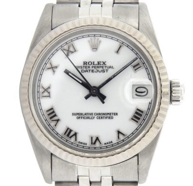 Rolex Stainless Steel Datejust 68274 White Roman-1