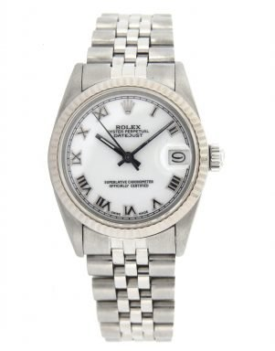 Rolex Stainless Steel Datejust 68274 White Roman-7