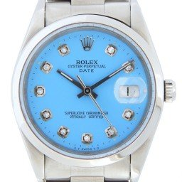 Mens Rolex Stainless Steel Date Blue Diamond 15200 (SKU W877298MT)