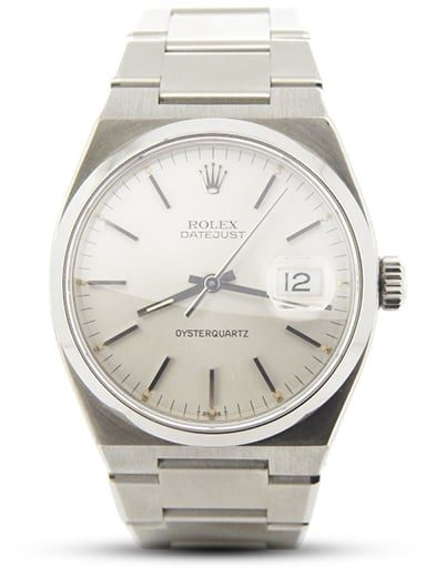 Pre Owned Mens Rolex Stainless Steel Oysterquartz Datejust with Silver Dial 17000