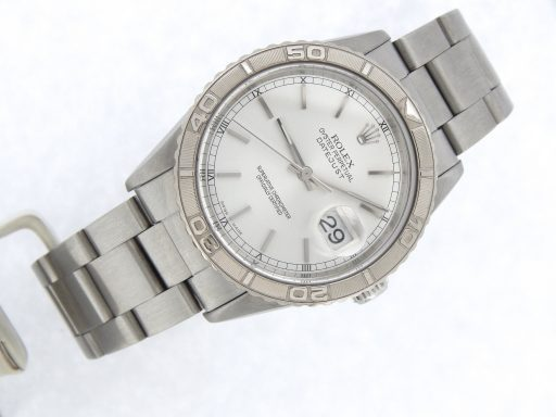 Rolex Stainless Steel Datejust 16264 Silver Turn-O-Graph-8