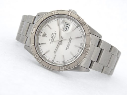 Rolex Stainless Steel Datejust 16264 Silver Turn-O-Graph-7