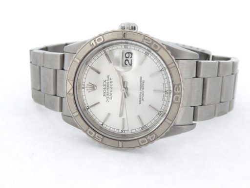 Rolex Stainless Steel Datejust 16264 Silver Turn-O-Graph-6