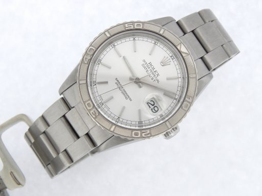 Rolex Stainless Steel Datejust 16264 Silver Turn-O-Graph-9