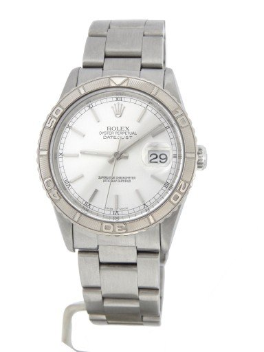 Rolex Stainless Steel Datejust 16264 Silver Turn-O-Graph-10