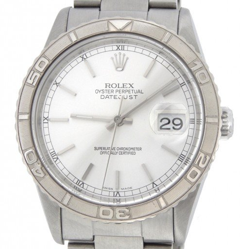 Rolex Stainless Steel Datejust 16264 Silver Turn-O-Graph-1