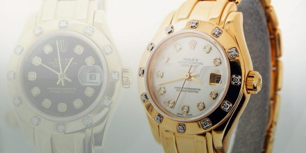 Rolex's Jewelry Watch: Yellow Gold Ladies' Datejust Pearlmaster