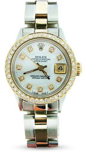 Rolex Datejust Ladies Two Tone 14K/SS White MOP Diamond 6517