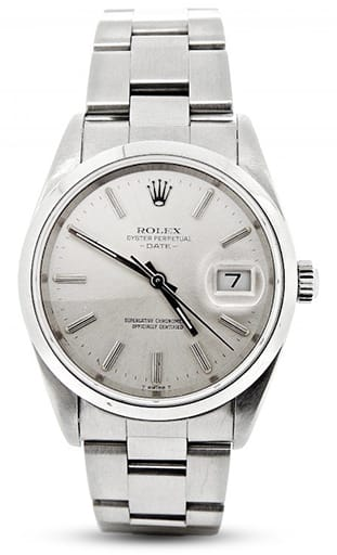 Mens Rolex Stainless Steel Date Silver 15200