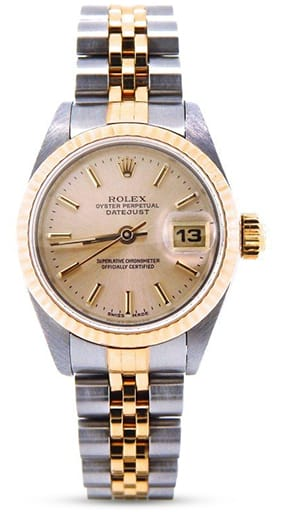 Rolex Datejust Ladies Two Tone 18K/SS Rose 69173