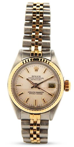Rolex Datejust Ladies Two Tone 14K/SS Silver 6917
