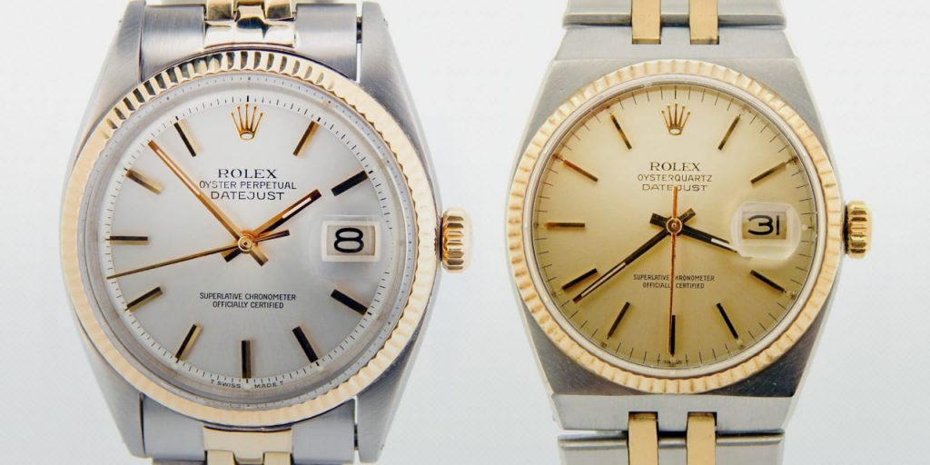 Post image for What's the Difference? The Rolex Datejust Vs. The Rolex Oysterquartz Datejust