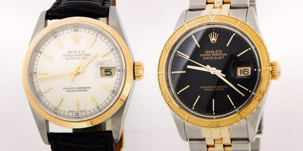 Post image for Two Tone Rolex Datejust Compare: 16003, 16013, 16253 vs. 16203, 16233, 16263