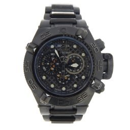 Mens Invicta Black Ion-plated Subaqua Noma IV 6561 Chronograph Watch (SKU INNOMA4MT)