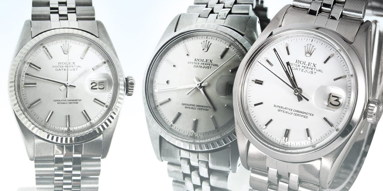 Post image for Stainless Steel Rolex Datejust Compare: 1600, 1601, 1603 vs. 16000, 16014, 16030
