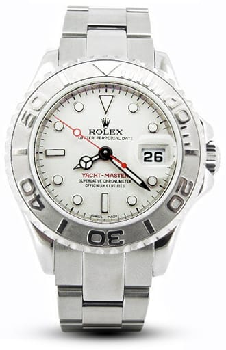 Ladies Rolex Stainless Steel & Platinum Yacht-Master 169622