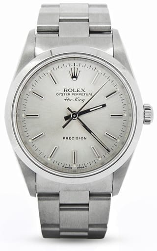 Mens Rolex Stainless Steel Air-King Silver 14000