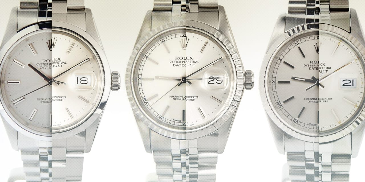 Post image for Quick Comparison Guide: Stainless Steel Rolex Datejust 16000, 16014, 16030, 16200, 16234, 16220
