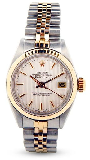 Ladies Rolex Two-Tone 14K/SS Datejust Silver 6917