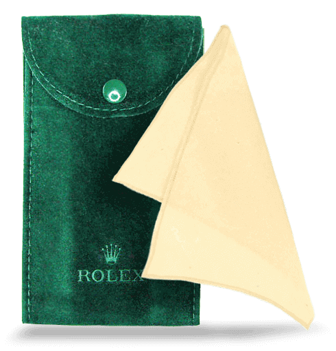 Rolex Pouch and Rolex Cleaning Cloth