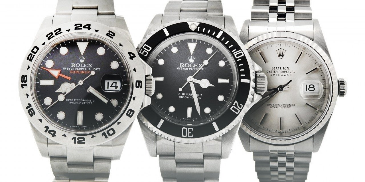 Post image for Stainless Steel Rolex Watches