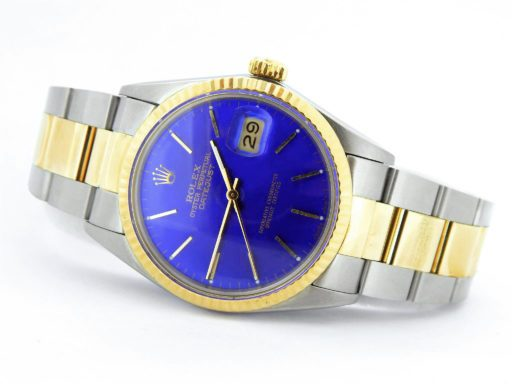 Rolex Two-Tone Datejust 16013 Blue -6