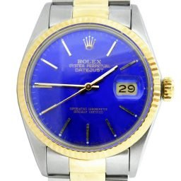 Mens Rolex Two-Tone Datejust Watch Blue 16013 (SKU 6166215MT)