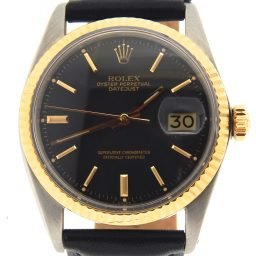 Mens Rolex Two-Tone 14K/SS Datejust Black  1601 (SKU 2149021MT)