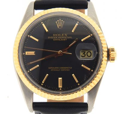 Rolex Two-Tone Datejust 1601 Black -1