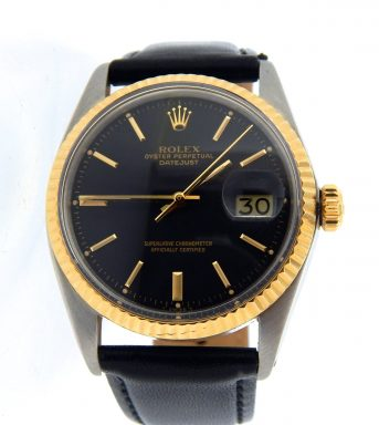 Rolex Two-Tone Datejust 1601 Black -3