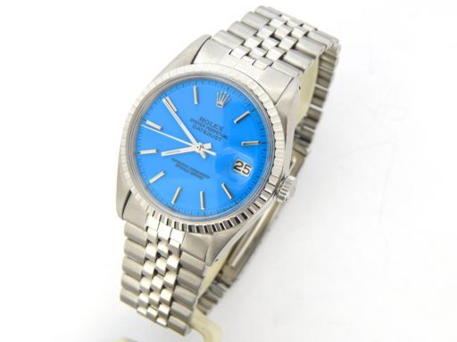 Rolex Stainless Steel Datejust 1603 Blue -6